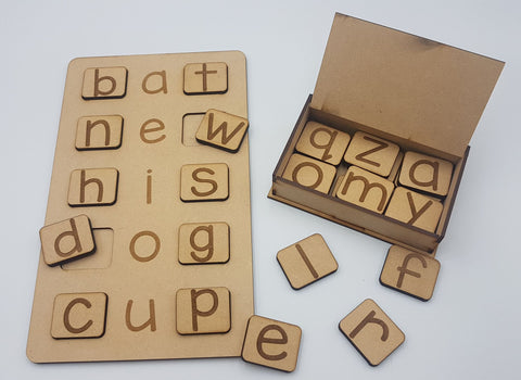 AEIOU Board and Alphabet Tile Set