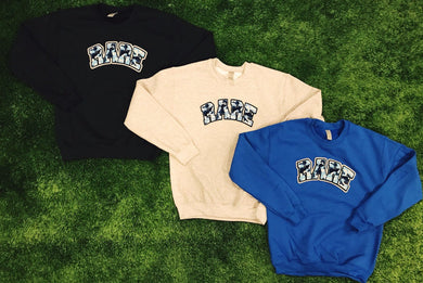 Very Rare Blue Camo Crewneck