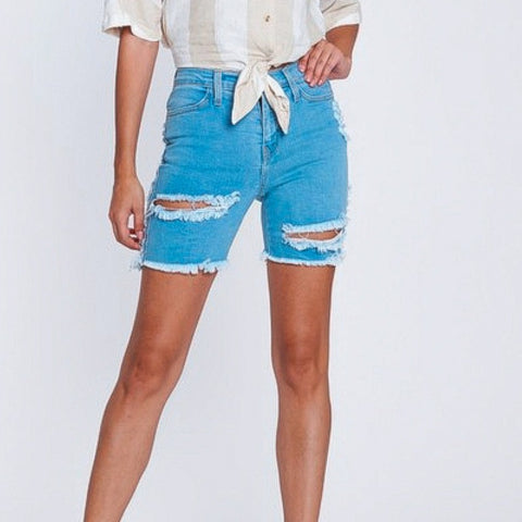 STONY DISTRESSED BERMUDA SHORTS