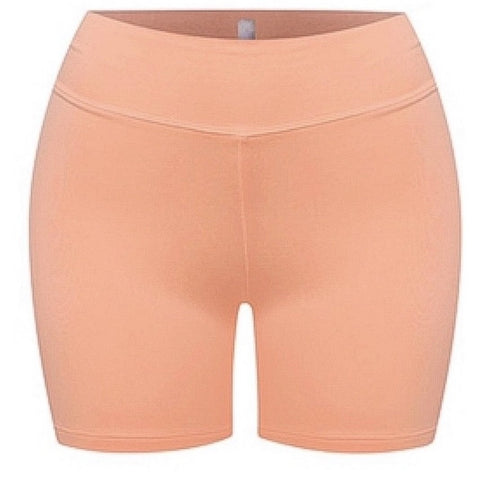 SUCH A SOFTIE CORAL BIKER SHORTS