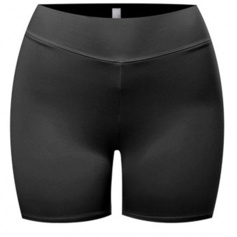 SUCH A SOFTIE BLACK BIKER SHORTS