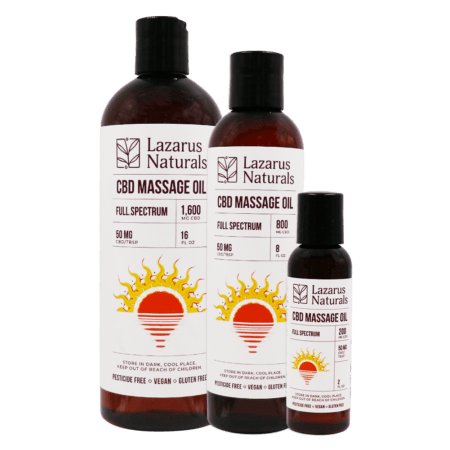 Best Lazarus Naturals CBD Massage Oil - Green Door CBD