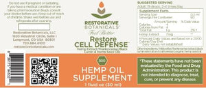 Best Restore CELL DEFENSE Hemp Oil Supplement - Green Door CBD
