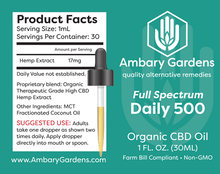 Load image into Gallery viewer, Best Full Spectrum Daily CBD Hemp Extracts - Green Door CBD
