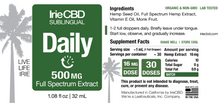 Load image into Gallery viewer, Best Daily CBD Oil Tincture - Green Door CBD