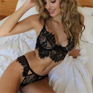48f2a7eb20fe3 Sexy Lingerie Sets Plus Size Hot Lace Erotic Women Underwear Set Sleepwear  G-string Lace