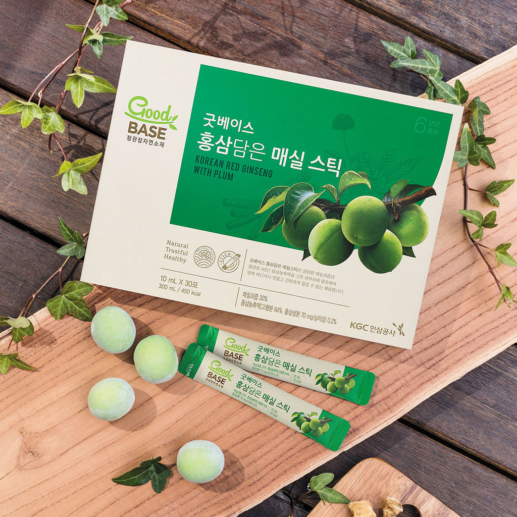 Good Base Korean Red Ginseng with Plum Stick 30s