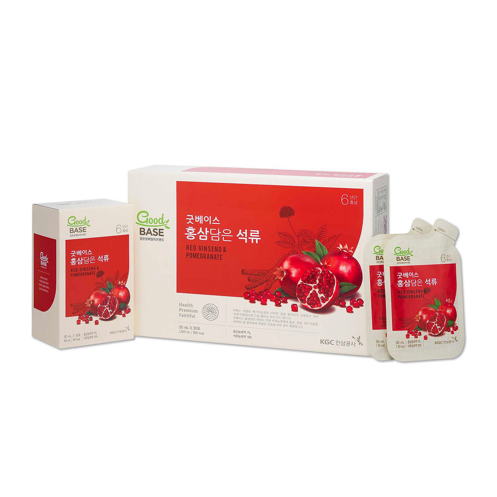 Good Base Korean Red Ginseng with Pomegranate Pouch 30s