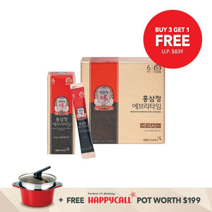 Ckj Korean Red Ginseng Extract Everytime 30S [Buy 3 Get 1 Free + Happy Call Pot Package] Cheong Kwan
