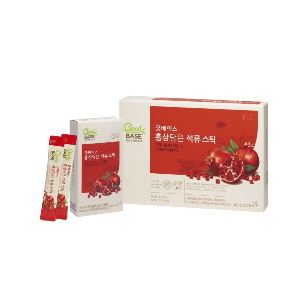 Good Base Korean Red Ginseng With Pomegranate Stick 30S Cheong Kwan Jang