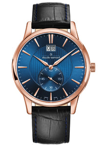 Claude Bernard Classic Gents Big Date Small Second 64005.37R.BUIR