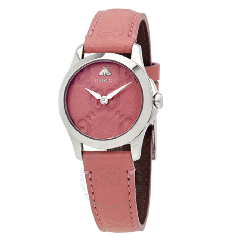 GUCCI G-Timeless Pink Dial Ladies Watch YA126578