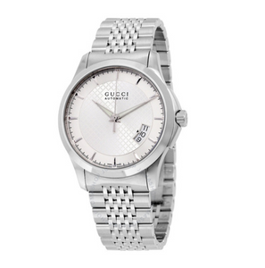 GUCCI G-Timeless Silver Dial Stainless Steel Automatic Men's Watch YA126417