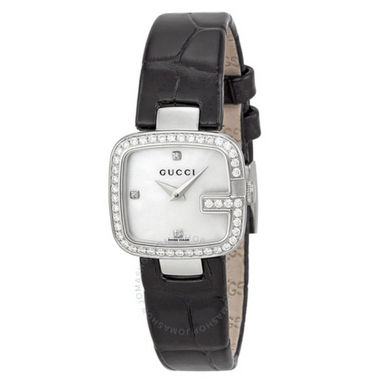 Gucci G-Gucci Mother of Pearl Diamond Watch YA125515