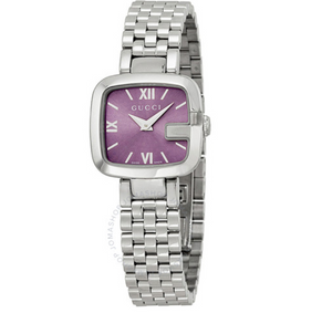 Gucci G-Gucci Purple Dial Watch YA125518