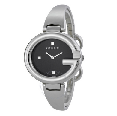GUCCI Guccissima Black Dial Watch YA134301