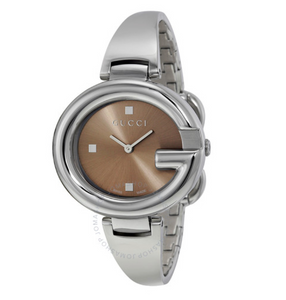GUCCI Guccissima Brown Dial Watch YA134302