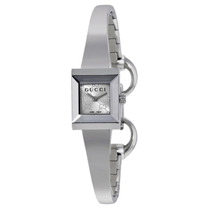 GUCCI G Frame Square Silver Dial Watch YA128511