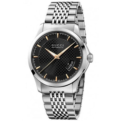 Gucci G-Timeless Automatic Steel Black Dial Mens Watch YA126420