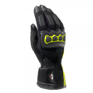 Clover SR-3 Long summer Gloves Black/Fluo/Yellow