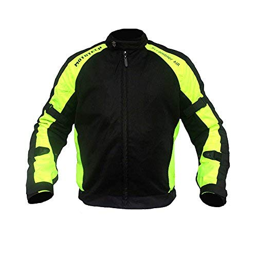 MotoTech Scrambler Air Motorcycle Riding Jacket - Flourescent Green