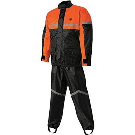 Nelson Rain Suit  Black/Orange