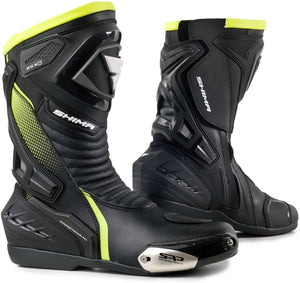 Shima RSX-6 Black Fluorescent Green Riding Boots