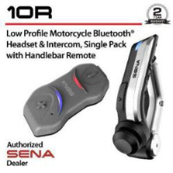 Sena 10R-10 Low Profile Bluetooth Headset and Intercom (Includes Bluetooth Remote)