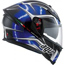 AGV K5 HURRICANE Black White Blue (Clear Visor)