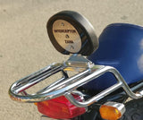 Zana Top Rack with backrest for RE Interceptor 650 & Continental GT 650 -