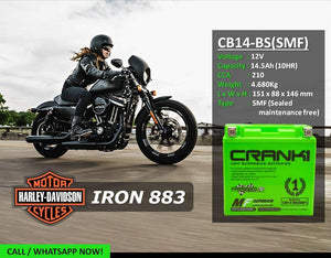 Crank1 CB14-BS (SMF) Battery
