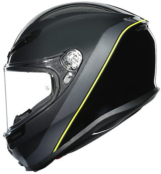 AGV K6 Minimal Gloss Gunmet Black Yellow Multi Full Face Helmet
