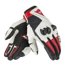 Dainese  MIG C2 Gloves Black White Lava-Red