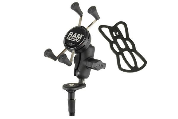 RAM Set - Fork Stem Mount X Grip Phone Cradle (Large)