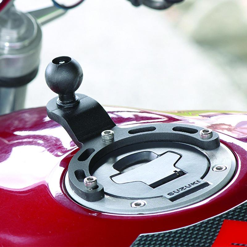 "RAM Base - Small Gas Tank Base with 1"" Ball for Motorcycles"