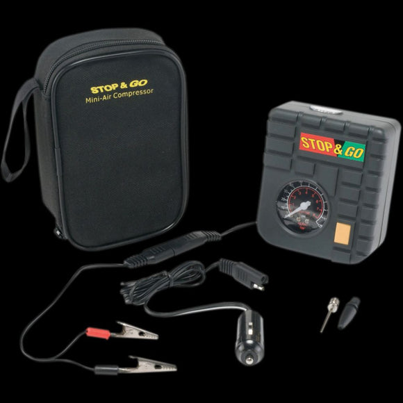 Stop & Go – Portable Mini-Air Compressor
