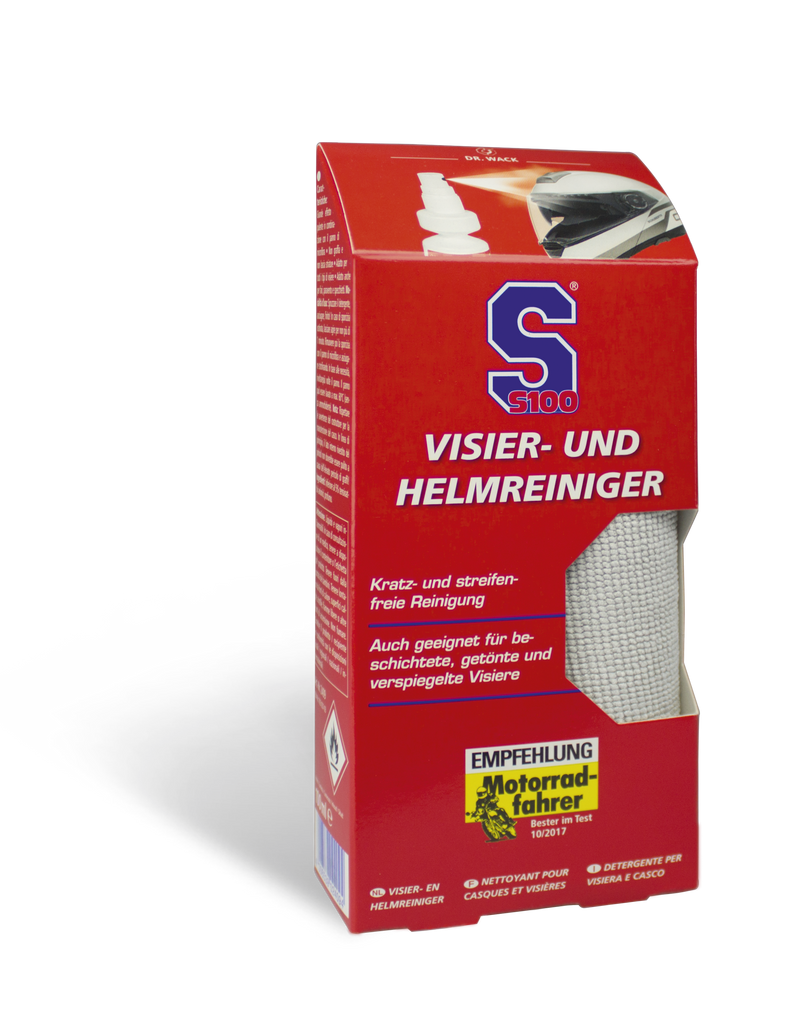 S100 HELMET MAINTENANCE:- VISOR AND HELMET CLEANER (SPRAY KIT)