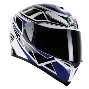 AGV K5 DIAPASON Blue White Black (Clear Visor)