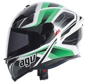 AGV K5 TRANSFORMER Green White Black (Clear Visor)