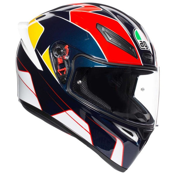 AGV K1 Pitlane-Blue-Red-Yellow-Helmet