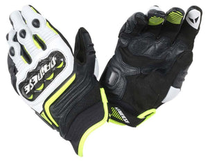 Dainese  Carbn Di Short Gloves Blk/Whte/Green