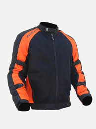 MotoTech Scrambler Air Motorcycle Riding Jacket - Orange