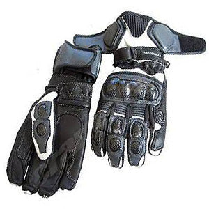 Cramster TRG Race Glove  Black White