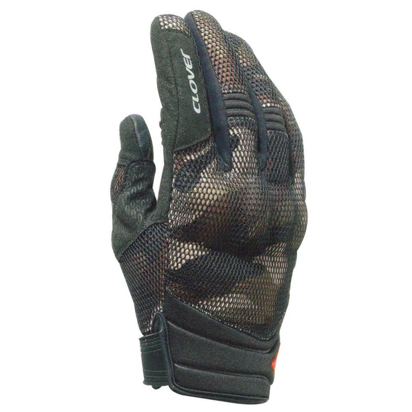 Clover Storm  Short Camouflage Summer gloves