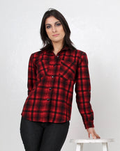 Plaid Cotton Flannel Long Sleeve Button Down Shirt