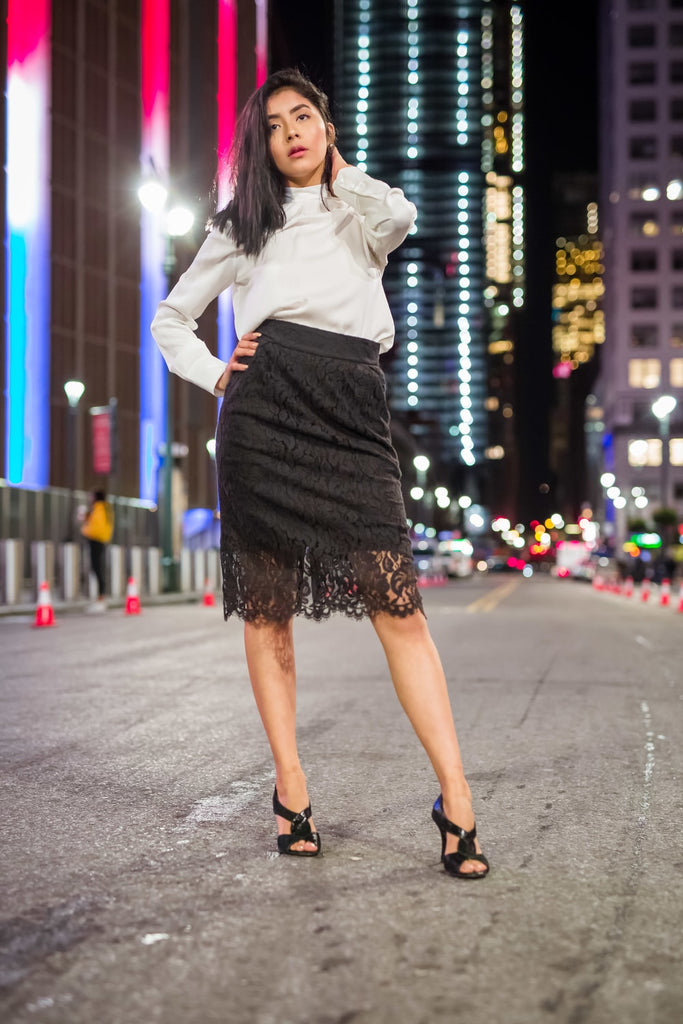 Fitted Lace Skirt