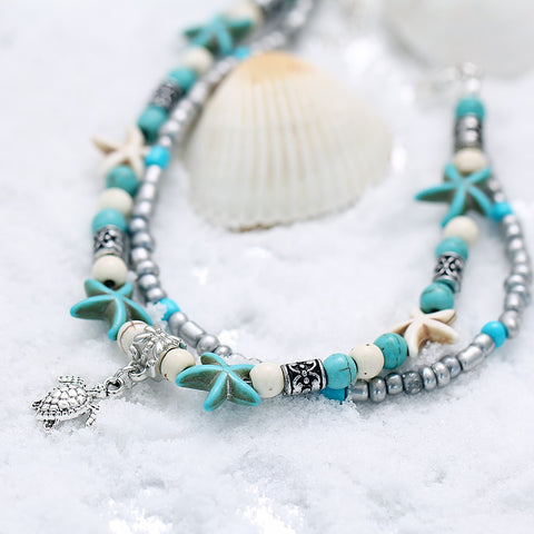 Bohemian Beaded Anklet