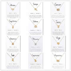 Zodiac Sign Pendant (Gold/Silver Collection)