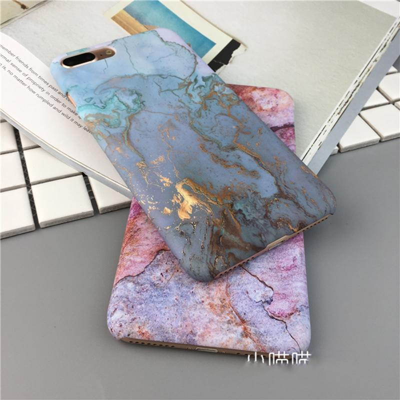 Chic Vintage Instagram Golden Marble Slim Protective iPhone Cases