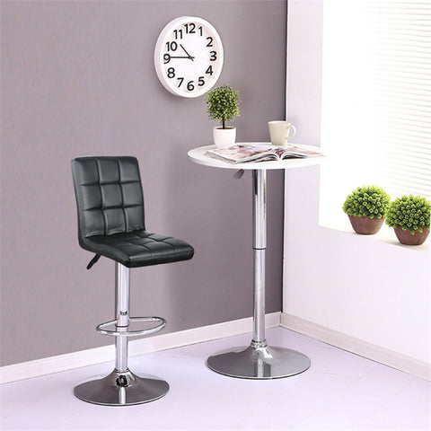 Black Bar Stools Adjustable Height Swivel Leather
